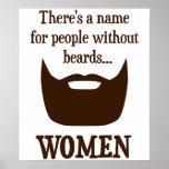Hay un nombre para la gente sin las barbas… MUJERE Poster