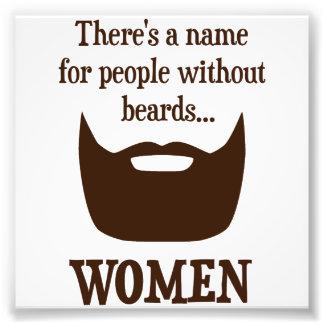 Hay un nombre para la gente sin las barbas… MUJERE Fotografia