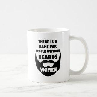 Hay un nombre para la gente sin las barbas… taza básica blanca