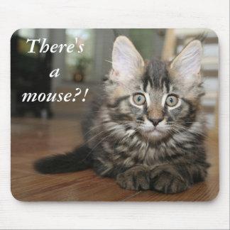 ¡Hay un ratón?! Gato divertido Mousepad Tapetes De Ratón
