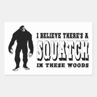 ¡Hay un Squatch en estas maderas! Vidas de Bigfoot Rectangular Altavoz