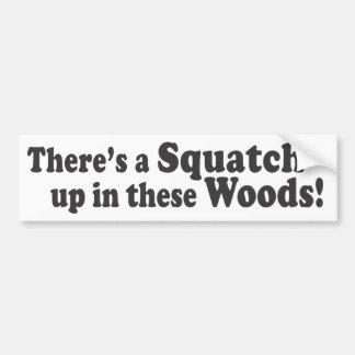 ¡Hay un Squatch para arriba en estas maderas Pegatina De Parachoque