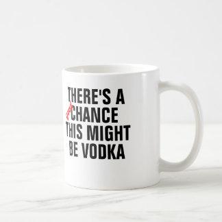 Hay una buena ocasión que ésta pudo ser vodka taza básica blanca