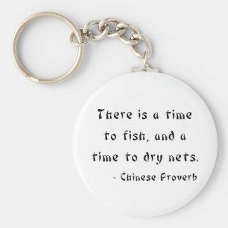 Hay una época de pescar, y una época de secar rede llavero redondo tipo pin