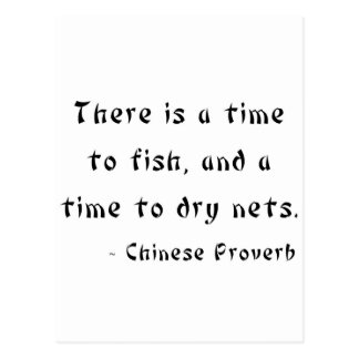 Hay una época de pescar y una época de secar rede tarjeta postal