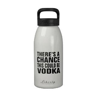 Hay una ocasión que ésta podría ser vodka botella de beber