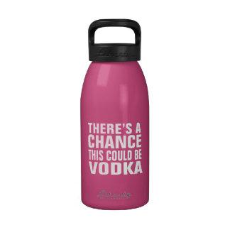Hay una ocasión que ésta podría ser vodka - rosa botallas de agua