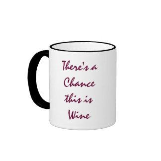 Hay una ocasión que éste es vino taza a dos colores