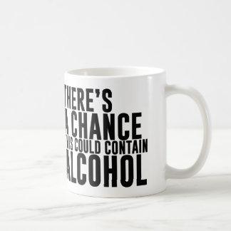 Hay una ocasión que éste podría contener el alcoho tazas de café
