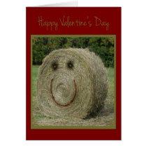 Hay Valentine Card