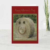 Hay Valentine Holiday Card