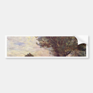 Hay Wain By Corot Jean-Baptiste-Camille (Best Qual Car Bumper Sticker