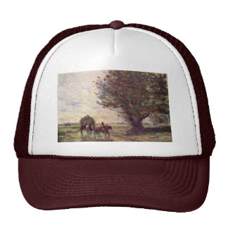 Hay Wain By Corot Jean-Baptiste-Camille Best Qual Mesh Hat