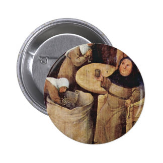 Hay Wain Triptych Central Panel: The Hay Wain Deta Pinback Button