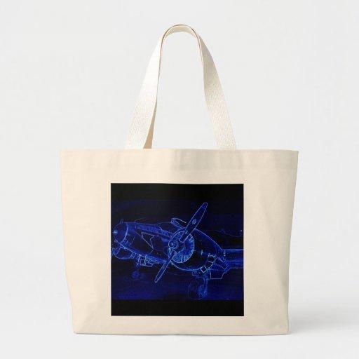 Haya azul bolsas de mano