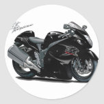 Hayabusa Black Bike Round Sticker