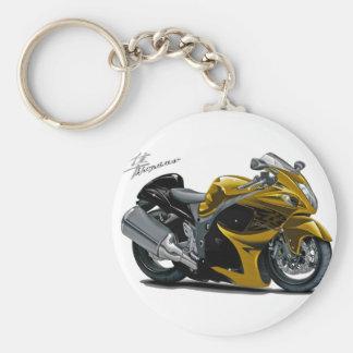 Hayabusa Gold Bike Basic Round Button Keychain