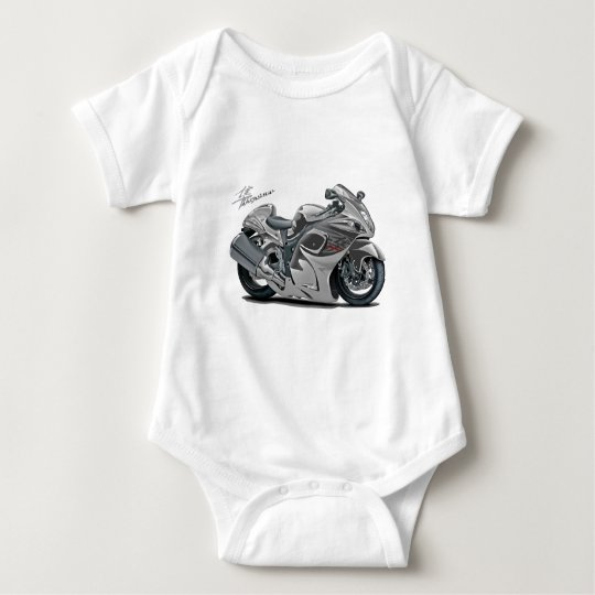 Hayabusa Grey Bike Baby Bodysuit