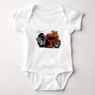 Hayabusa Orange Bike Baby Bodysuit