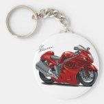Hayabusa Red Bike Key Chain