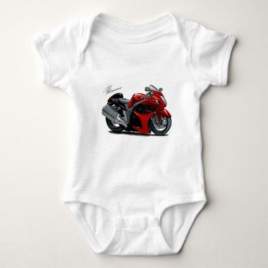 Hayabusa Red-Black Bike Baby Bodysuit