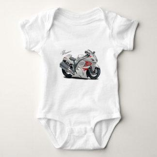 Hayabusa White-Red Bike Baby Bodysuit