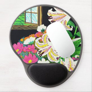Hayashi Waichi Golden Rayed Lily and Cosmos Gel Mouse Mats