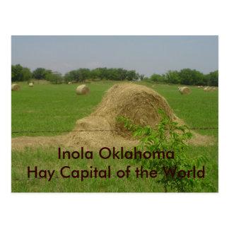 haybale, capital de Inola OklahomaHay del mundo Tarjetas Postales