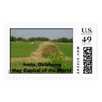 haybale, Inola, OklahomaHay Capital of the World Stamp