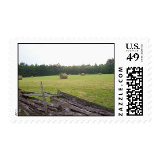 Haybales in Virginia photo by GBillips Postage Stamp