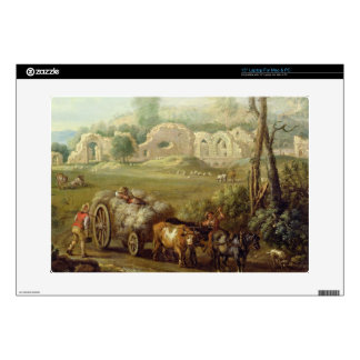 Haycart Passing a Ruined Abbey, c.1740-50 (oil on Decal For Laptop
