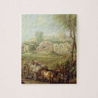 Haycart que pasa una abadía arruinada, c.1740-50 ( rompecabeza con fotos