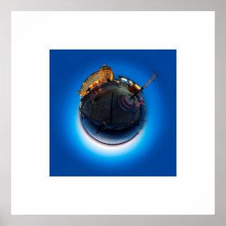 Haydarpaşa Little Planet Polar Panorama Poster
