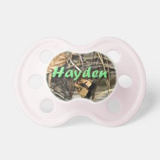 Hayden camo pacifier