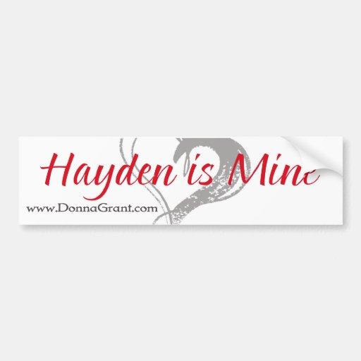Hayden Car Bumper Sticker