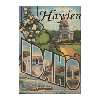Hayden, IdahoLarge Letter ScenesHayden, ID Canvas Print
