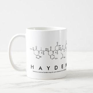 Hayden peptide name mug