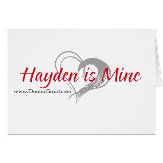 Hayden Tarjeta De Felicitación