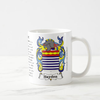 Hayden, the origin, the meaning and the crest coffee mug