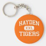 Hayden - Tigers - High School - Hayden Colorado Basic Round Button Keychain