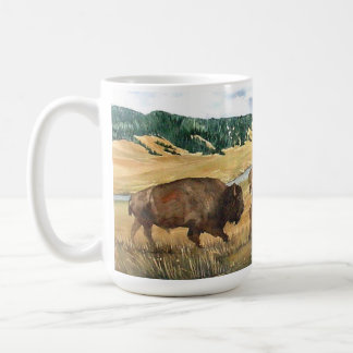 Hayden Valley Bison Yellowstone National Park Classic White Coffee Mug