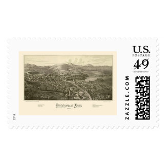 Haydenville, MA Panoramic Map - 1886 Stamp