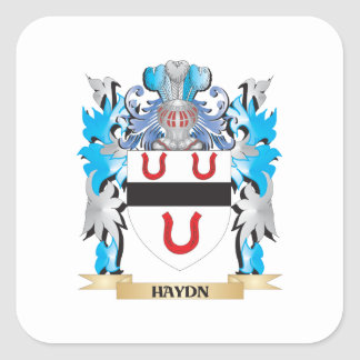 Haydn Coat of Arms - Family Crest Stickers
