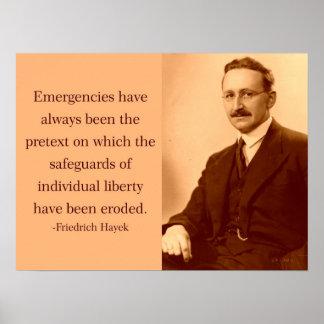 Hayek en emergencias póster