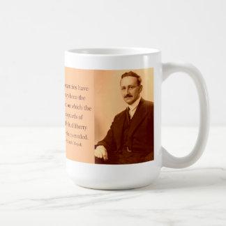 Hayek en emergencias taza básica blanca
