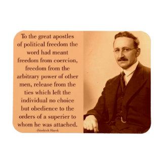 Hayek en la libertad iman de vinilo