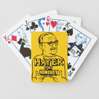 Hayek Is My Homeboy Bicycle Playing Cards