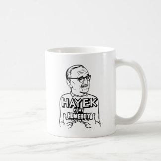 Hayek Is My Homeboy Classic White Coffee Mug
