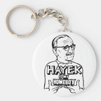 Hayek Is My Homeboy Keychain