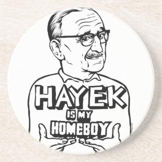 Hayek Is My Homeboy Sandstone Coaster